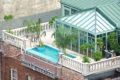 rooftopterrass Fotografering för Bildbyråer