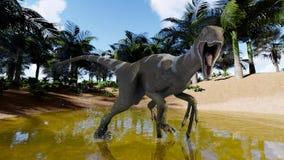 Roofzuchtige dinosaurus vector illustratie