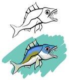 Roofzuchtige vissen royalty-vrije illustratie