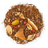 Rooibos gingerbread biscuit orange tea Stock Image