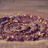 Rooibos mixed with flowers, dry fruits and herbs Stock Photo