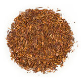 Rooibos Organic raw tea. Isolated on pure white background Stock Photo