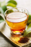 Rooibos tea. Closeup of rooibos tea, shallow dof Stock Photography