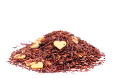 Rooibos tea with chocolate hearts Royalty Free Stock Photography