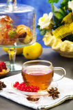 Rooibos tea with confectionery over Stock Image