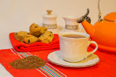 Rooibos tea and rusks Royalty Free Stock Photos