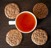 Rooibos tea and some cookies Royalty Free Stock Image