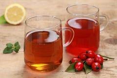Rooibos y té del escaramujo foto de archivo libre de regalías