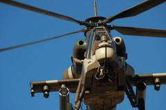 Rooivalk attack helicopter. From the South African Air Force Stock Image