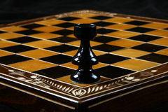 Rook. Table top of chesssboard with rook Royalty Free Stock Photography