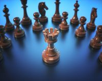 Rook Chess Game Board Stock Image