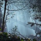 Rook door de Bomen Stock Afbeelding