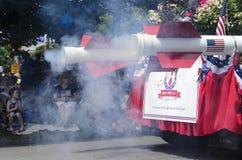 Rook van rocket-powered vlotter stock afbeeldingen