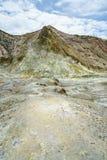 Rook, vulkanische krater, wit eiland, Nieuw Zeeland 38 stock foto