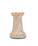 The rook. Wooden chess piece Stock Photography