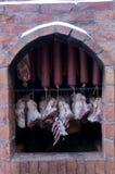 Rookhok voor vlees royalty-vrije stock afbeelding