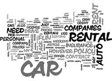 A Rookies Guide To Car Rentals Word Cloud. A ROOKIES GUIDE TO CAR RENTALS TEXT WORD CLOUD CONCEPT Stock Photos