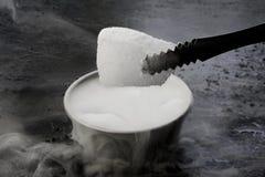 Rookmist en droog ijs Stock Afbeelding