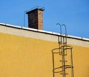 Rookstapel en ladder royalty-vrije stock afbeelding