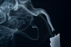 Rookwolk uit een kaars Royalty-vrije Stock Fotografie