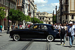 A Rools Royce in the streets 144 Royalty Free Stock Photos