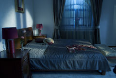 Room. Night room travel indoors interior Stock Images