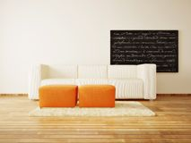 Room. Modern interior room with nice furniture inside Royalty Free Stock Photo