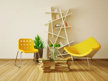 Room. Modern interior room with nice furniture inside Royalty Free Stock Image