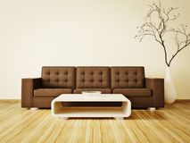 Room. Modern interior room with nice furniture inside Stock Photo