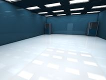 Room. 3d image of a server room Stock Images