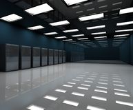 Room. 3d image of a server room Royalty Free Stock Photo
