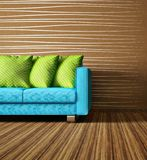 Room. Modern interior room with nice furniture inside Royalty Free Stock Images