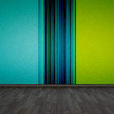 Room. Background wallpaper and wooden floor Royalty Free Stock Photo