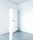 Room. White room with open door for background Royalty Free Stock Photography