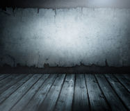 The room. Room with an old wall and wooden floor royalty free stock photos
