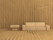 Room. Is made of cardboard Stock Photos