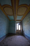 A room in an abandoned castle in italy Stock Images