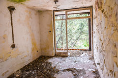 Room in Abandoned hotel Royalty Free Stock Photography