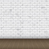 Room abstract white brick wall texture Royalty Free Stock Photography