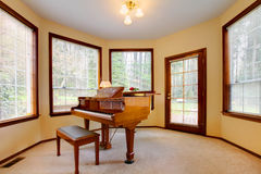 Room with antique piano Royalty Free Stock Photos