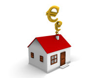 Room and apartment business field house and euro. Oom and apartment business field house and euro on the white space Stock Image