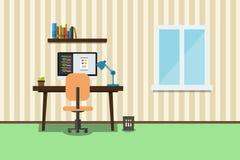 Room of app developer vector illustration Royalty Free Stock Image