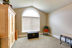 Room with arch window Royalty Free Stock Photos
