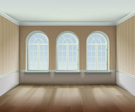 Room With Arched Windows Illustration vector illustration