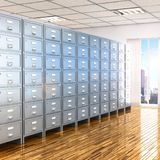 Room with archives. 3d illustration Royalty Free Stock Photos