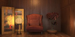 Room with armchair Stock Photography