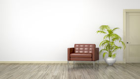 Room with an armchair Royalty Free Stock Photos