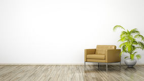 Room with an armchair Royalty Free Stock Images
