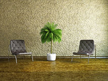 Room with armchairs Stock Image