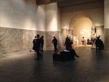 Room of an Assyrian Palace in Metropolitan Museum of Art. Royalty Free Stock Images